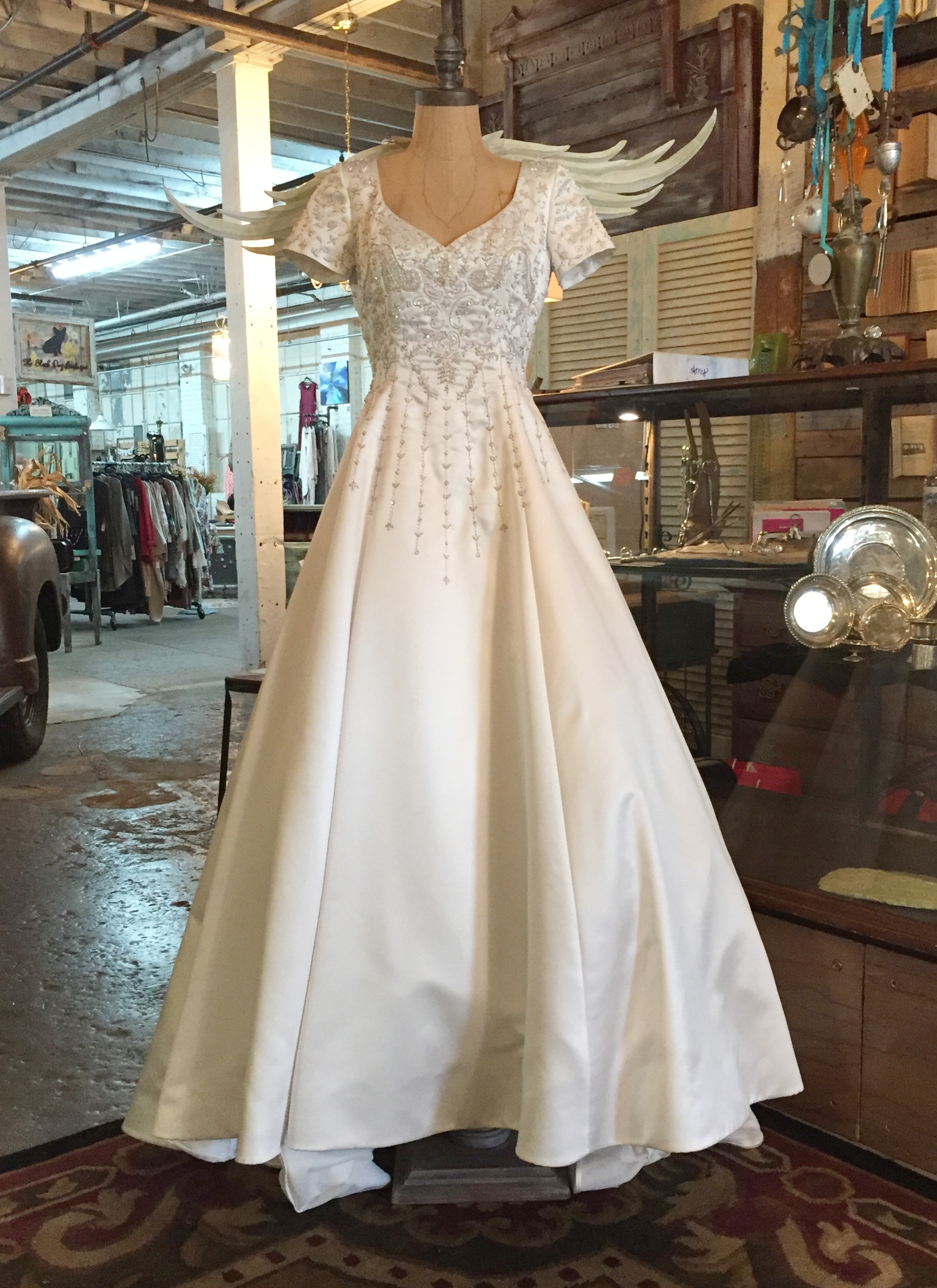 This gown will be raffled off to raise money for Upstate Warrior Solution.