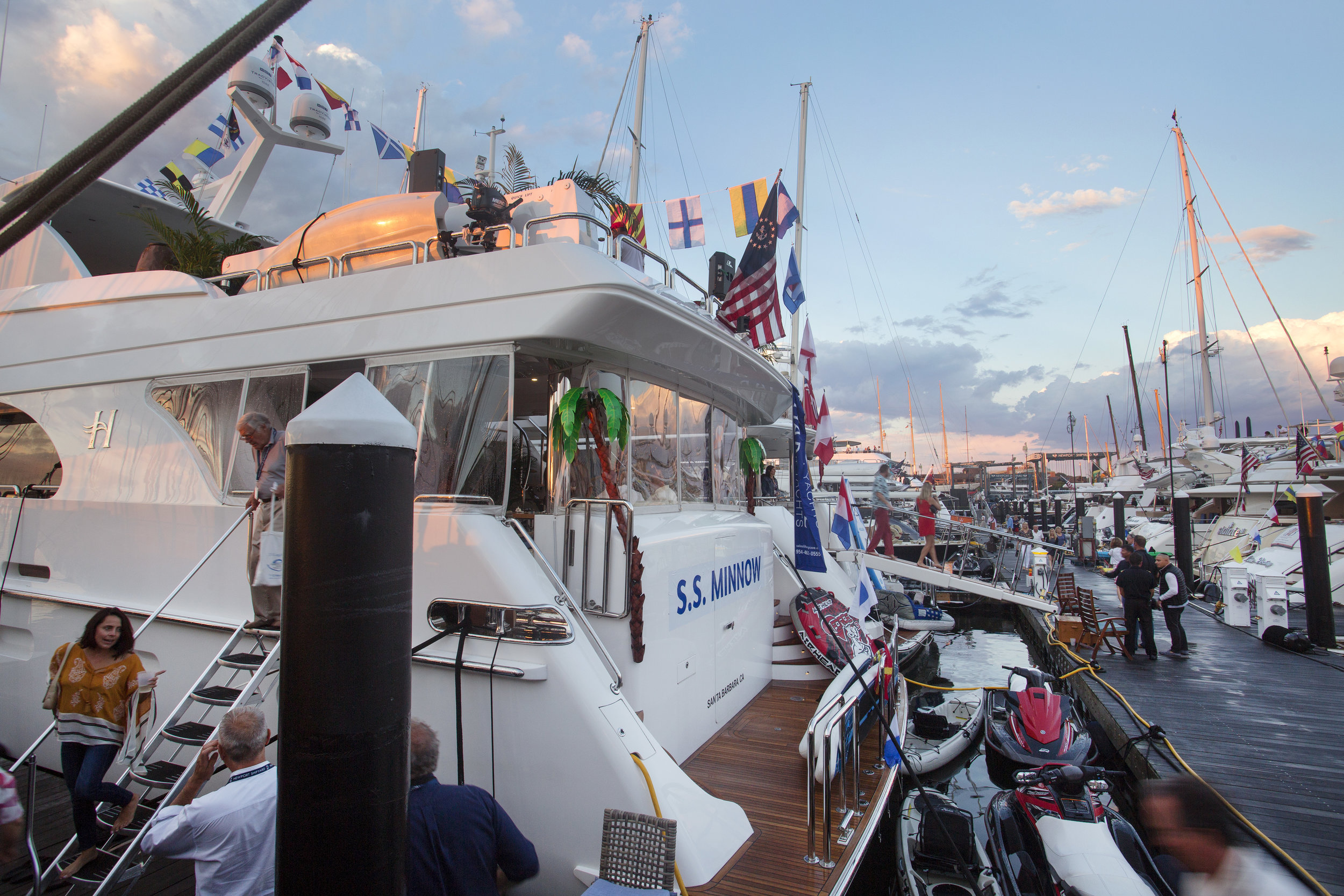 Attendees will participate in a 'yacht hop' on the Wednesday evening of the Charter Show.
