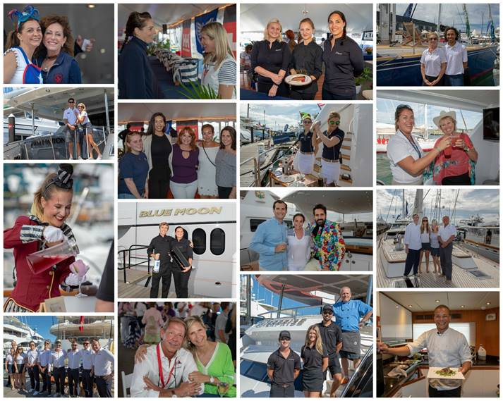 Scenes from the docks and the decks at the 2018 Newport Charter Yacht Show presented by Helly Hansen Newport.(Photo credit: Billy Black )