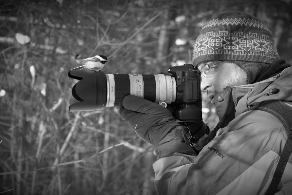 Shooting birds (photo: Annie Morrissette)