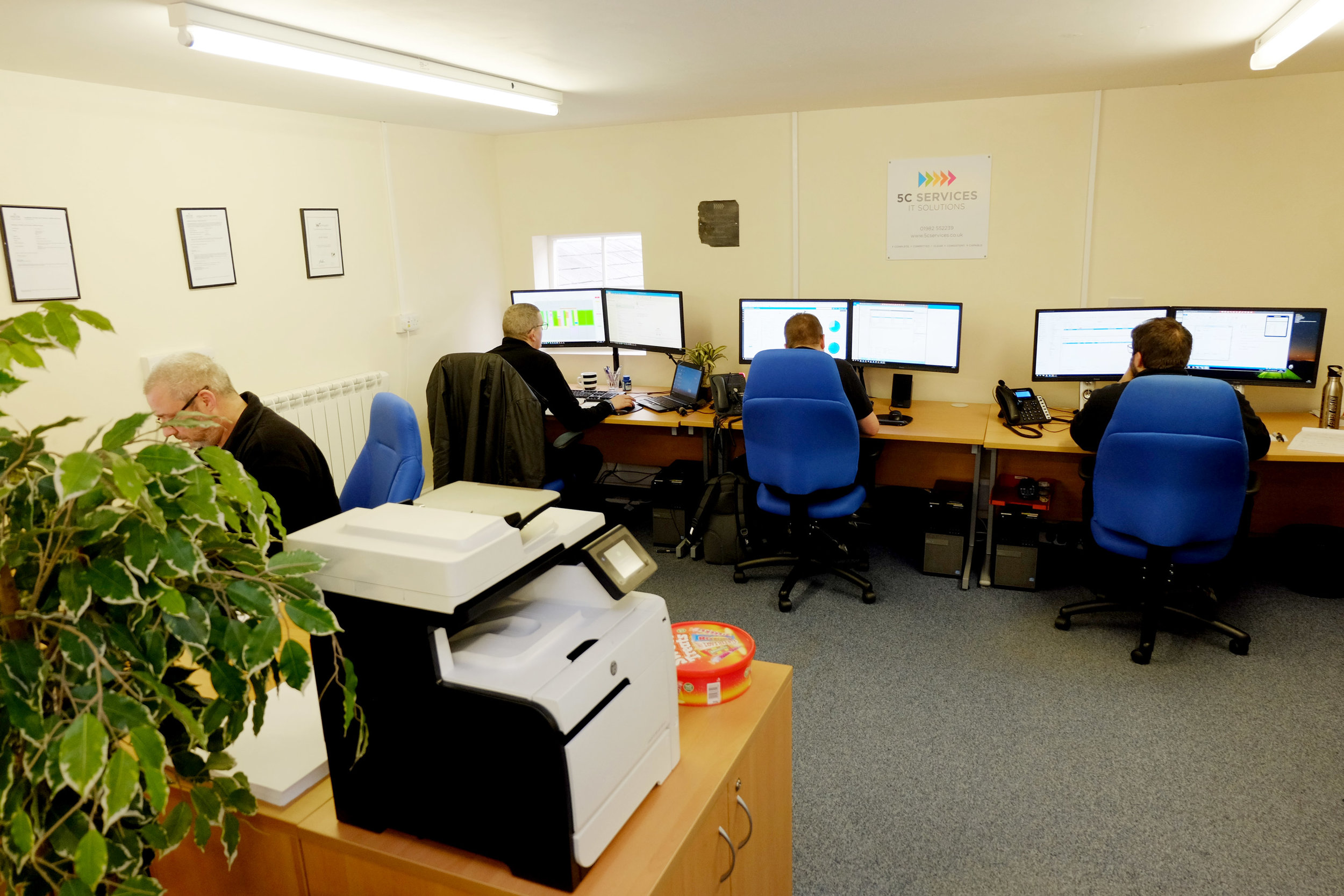 The new 5c Services office layout