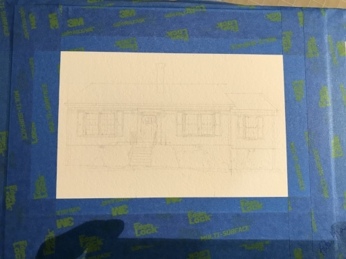 The initial drawing! I used a ruler and calculator to make certain it was to scale- a bit time consuming, but I would rather have it right the  first  time!