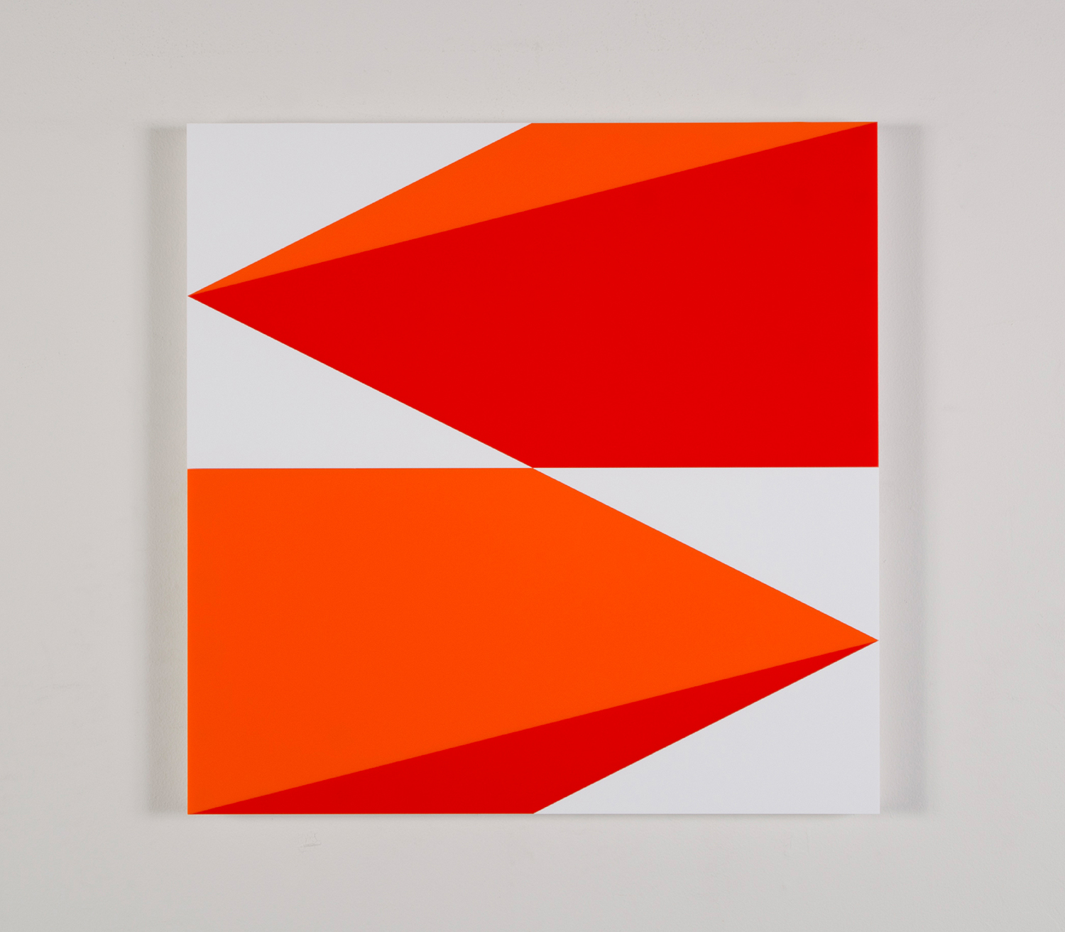"Composition in 2119 Orange, 2662 Red and 3015 White 22.5"" x 22.5"" 2016"
