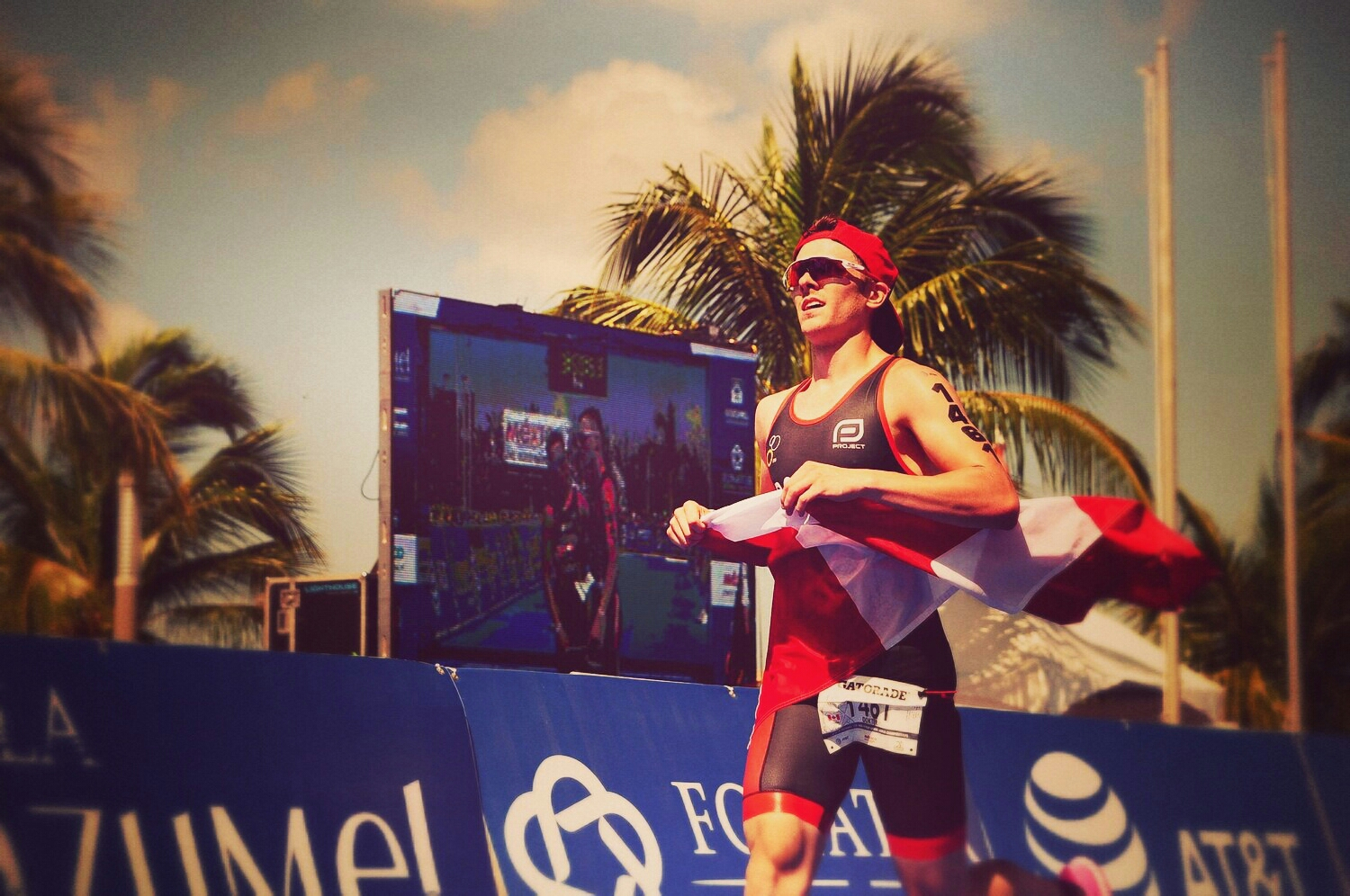 T1 High Performance athlete, Eric Dokter, at World Champs in Cozumel, Mexico.