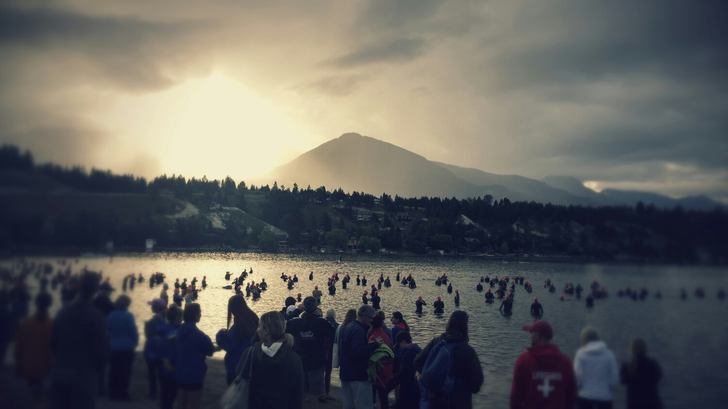 Race start in gorgeous Invermere, British Columbia.