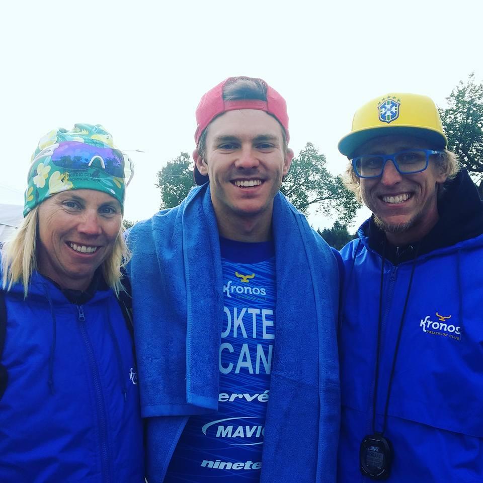 Eric Dokter Triathlete Kronos Winnipeg with Coaches