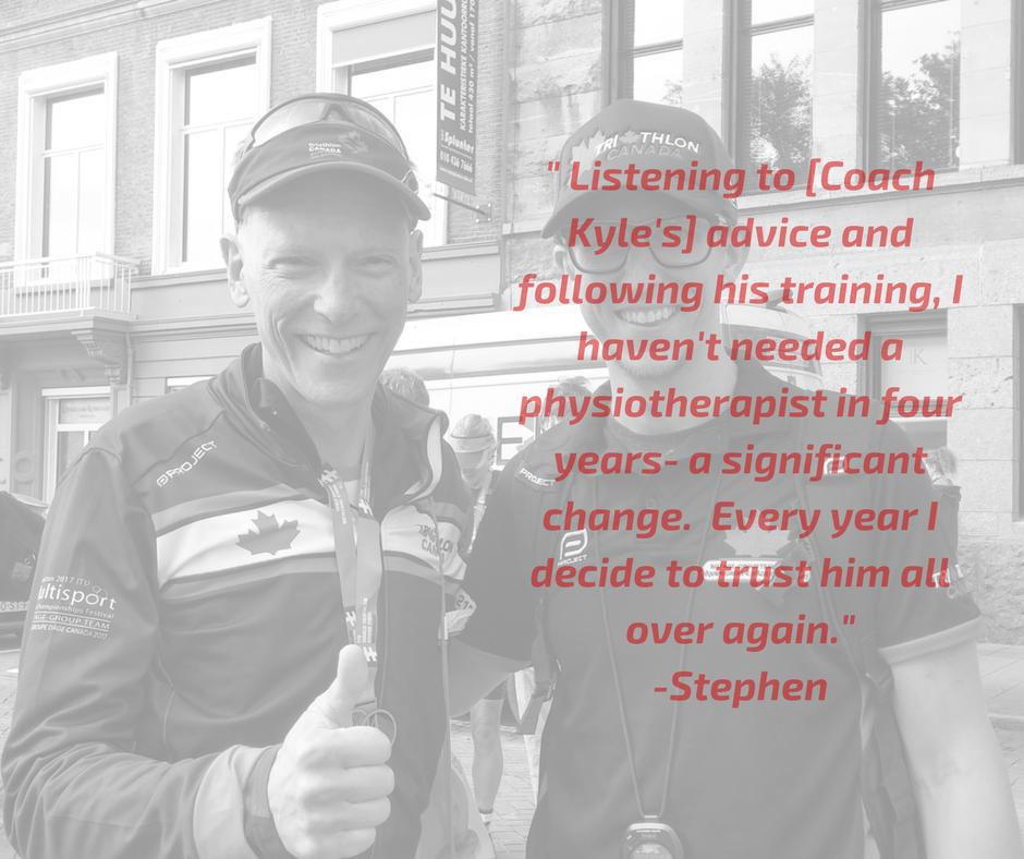 Stephen Robinson on T1 Triathlon