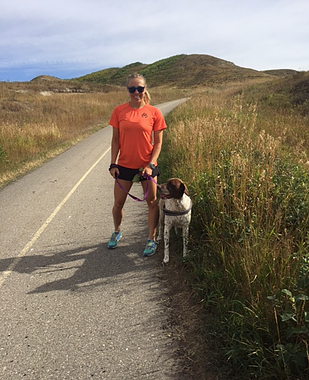 Catherine running in Glenbow Ranch
