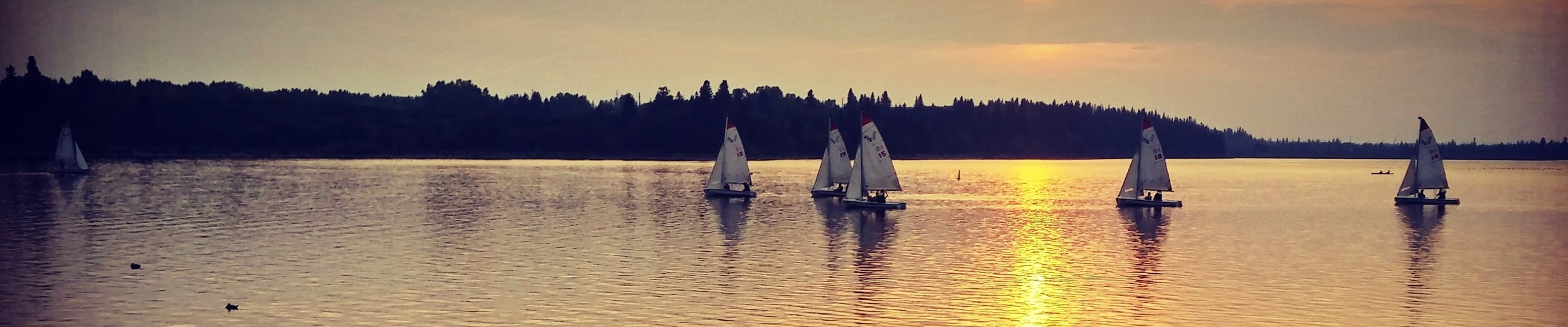 Sail Boats in the Lake on Bike Ride
