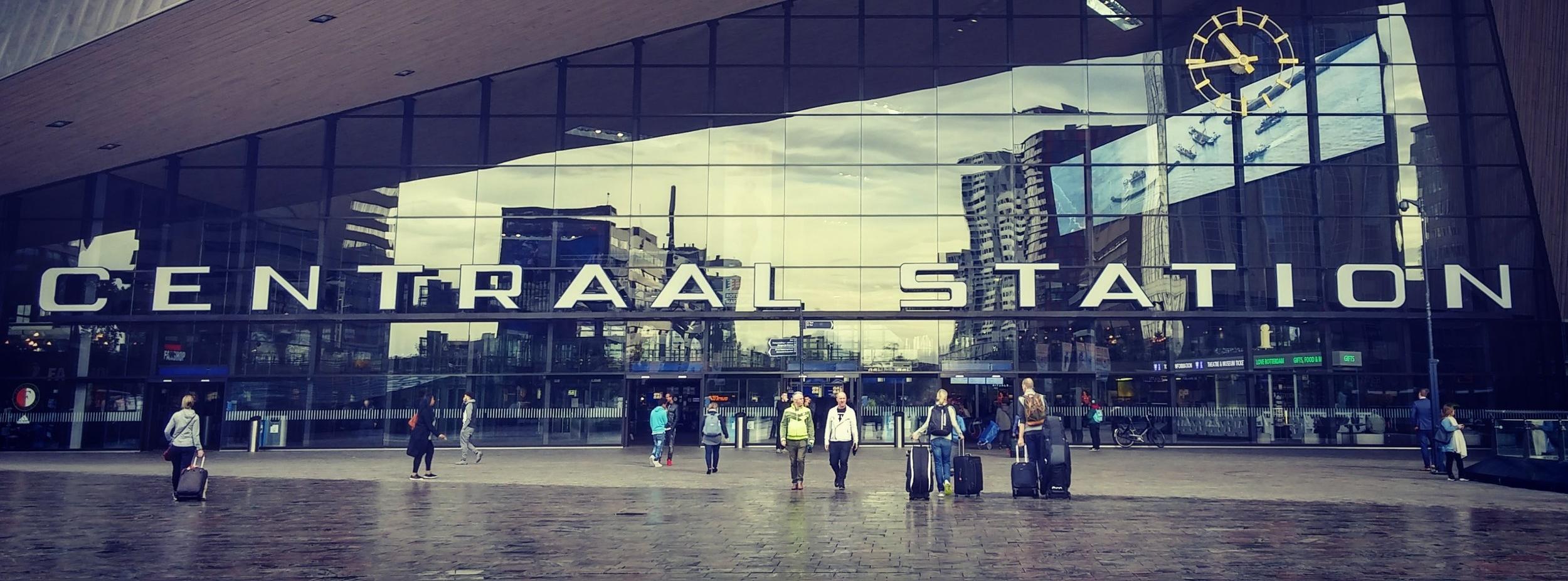 Centraal Train Station in Rotterdam Netherlands