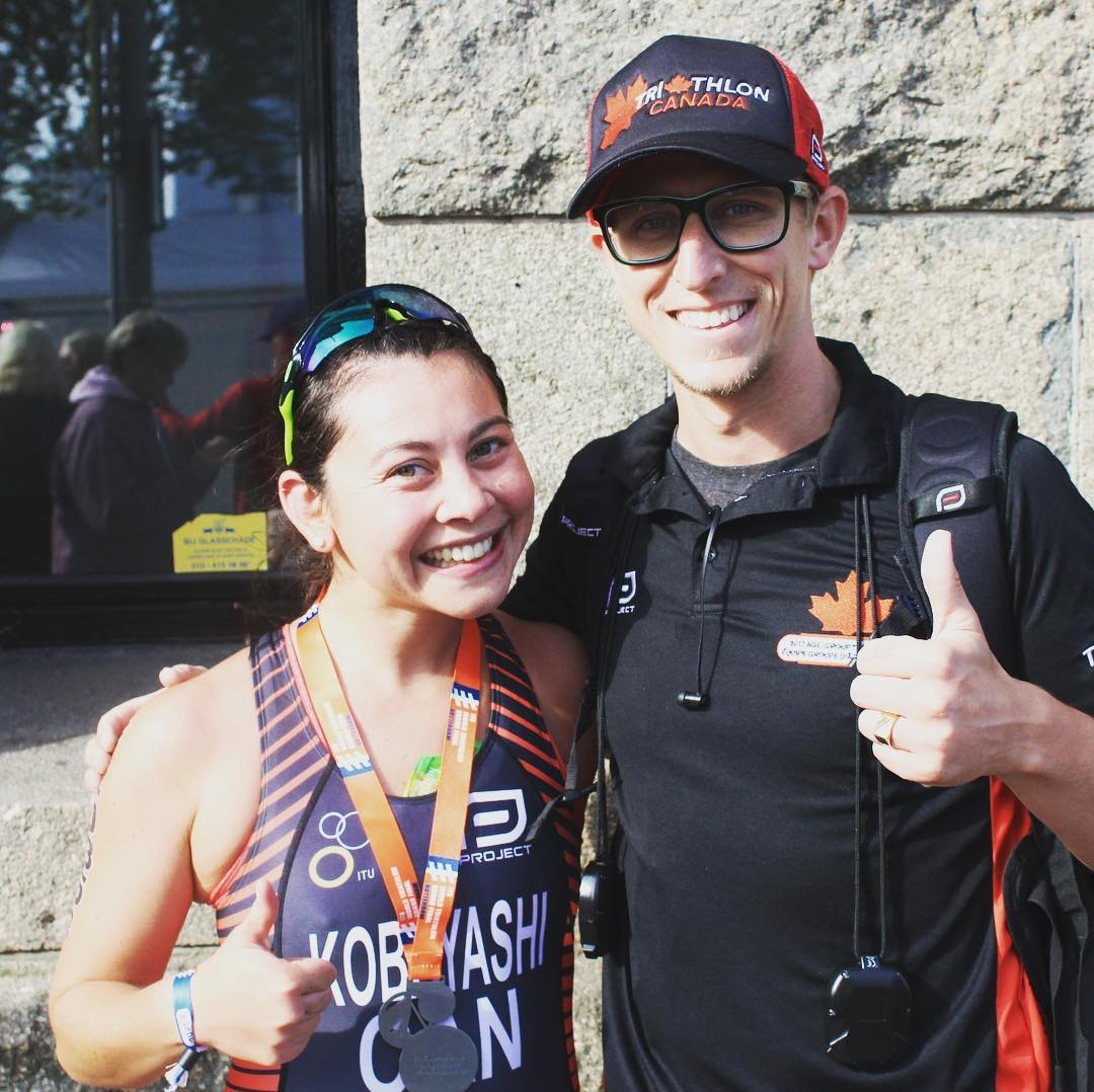 Yume Kobayashi Triathlete with Coach Kyle Jensen