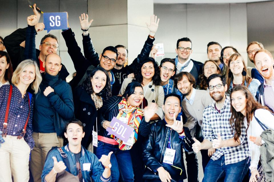 Group shot from the 2014 Creative Mornings summit at HQ in NYC