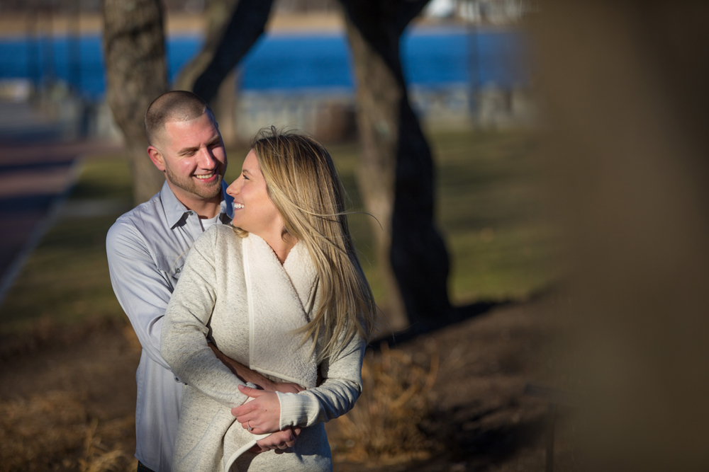 Great engagement photo shoot in Newburyport, MA with Erica and Joey