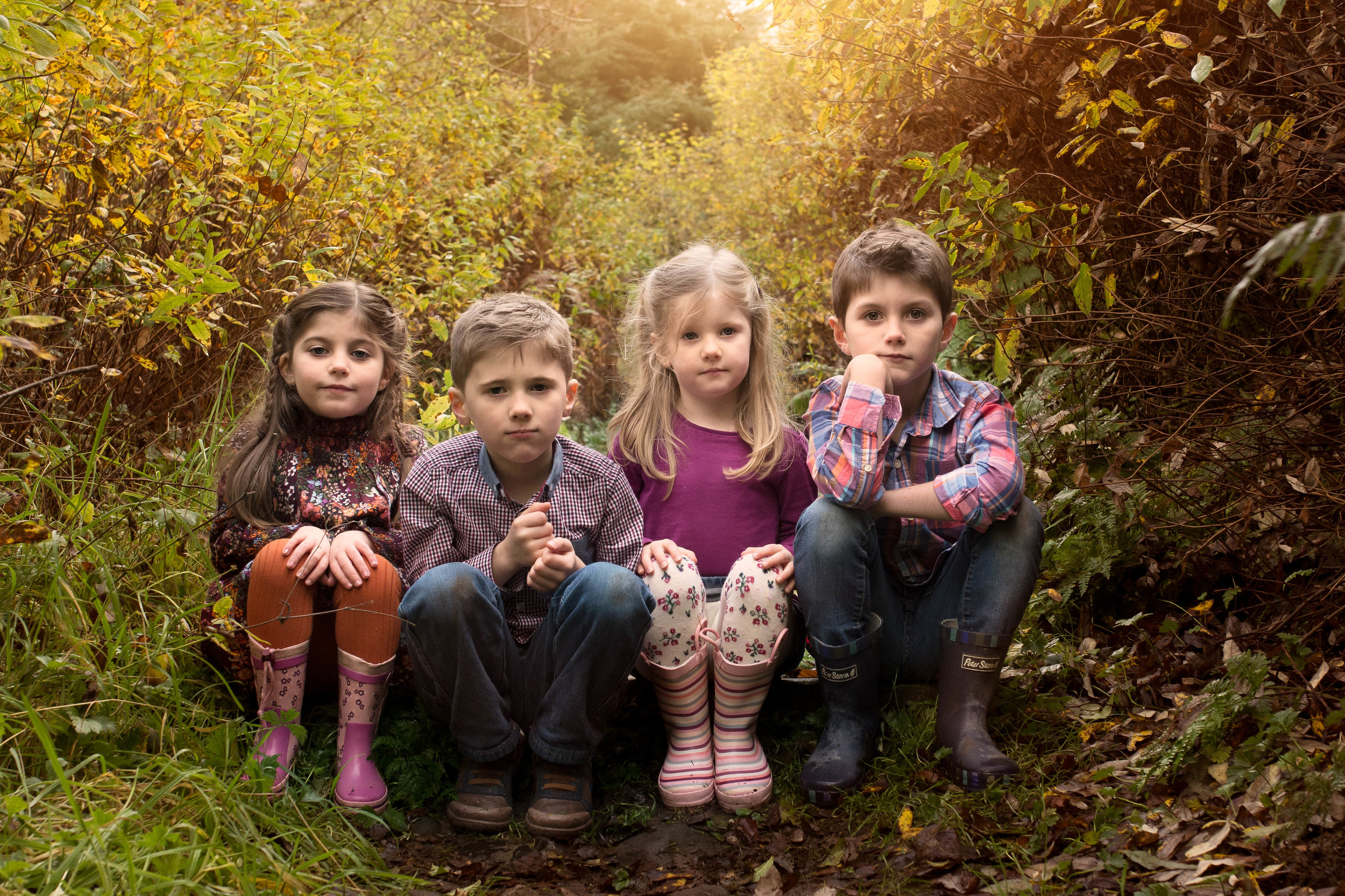 serious - faces - children - photographer - near glasgow