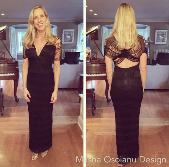 Kayley in Masha Osoianu Design custom Knot Gown