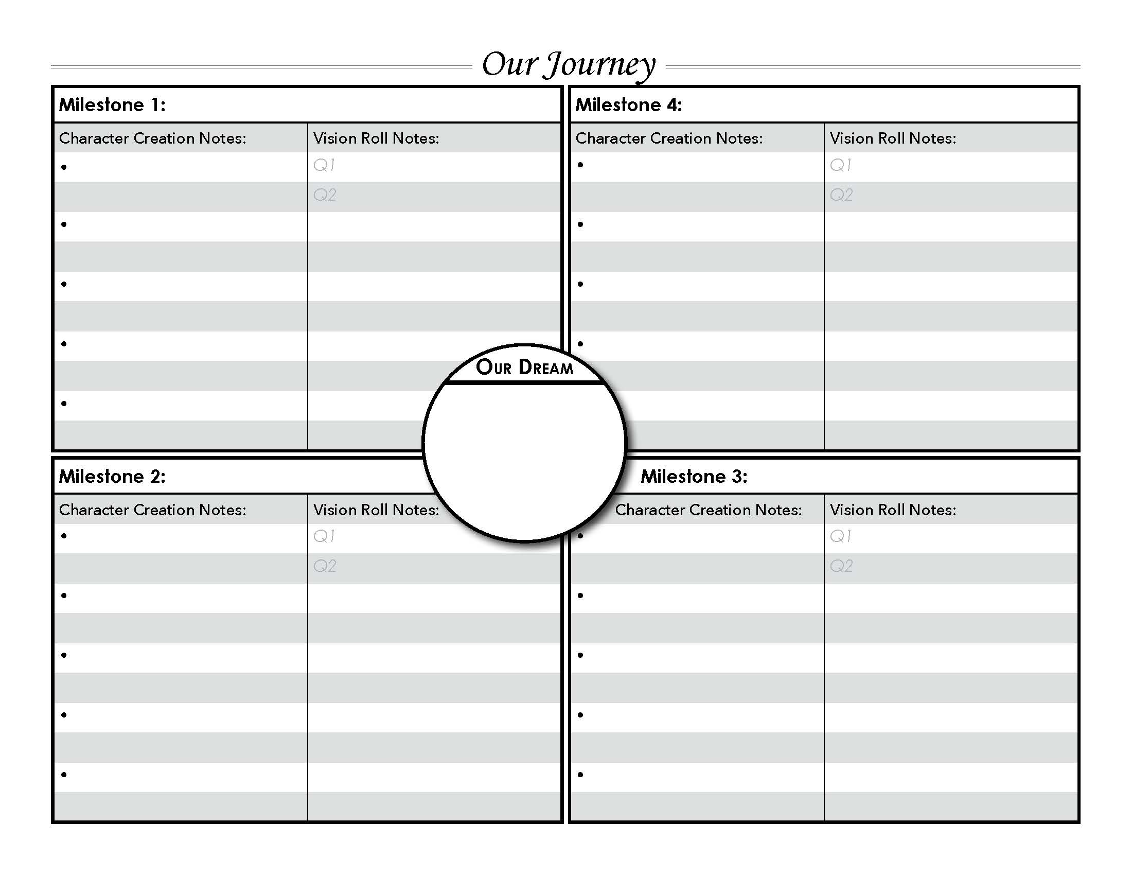 Guide Sheets - Black & White