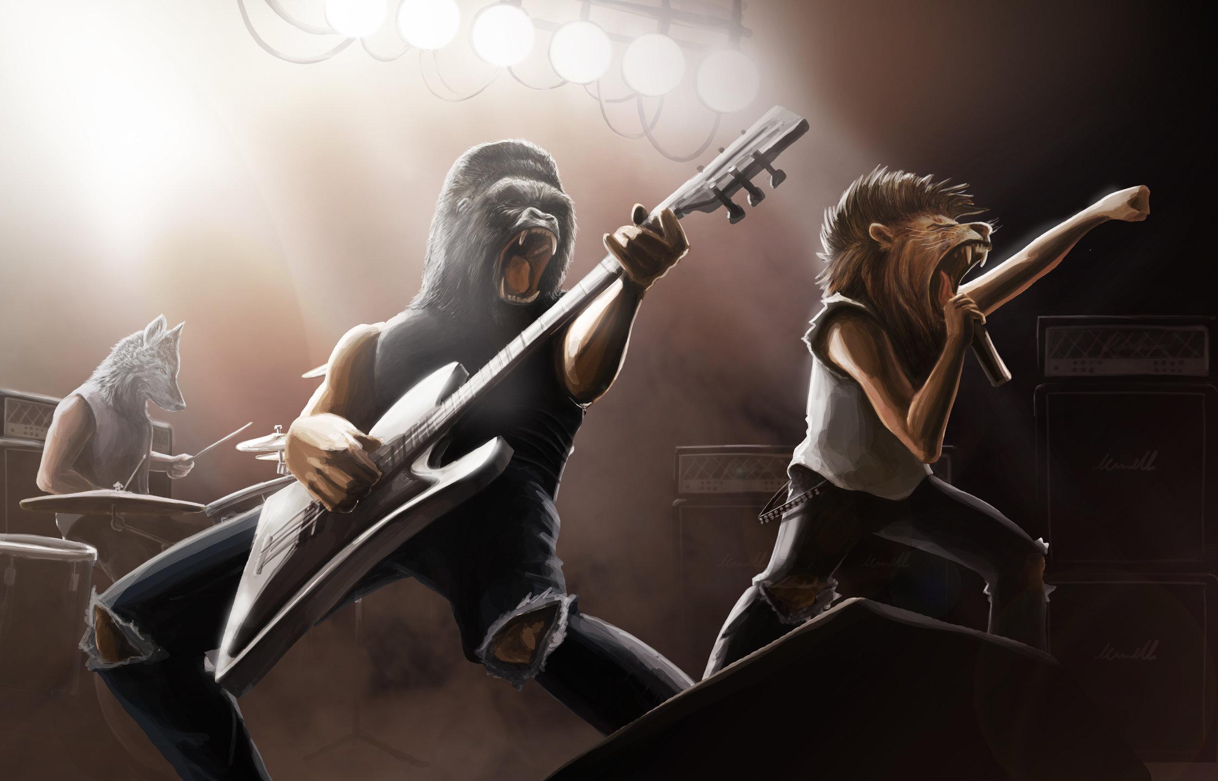 Punk Rock Zoo by  Juan Carlos Alegre Herrera.    https://www.behance.net/juanco