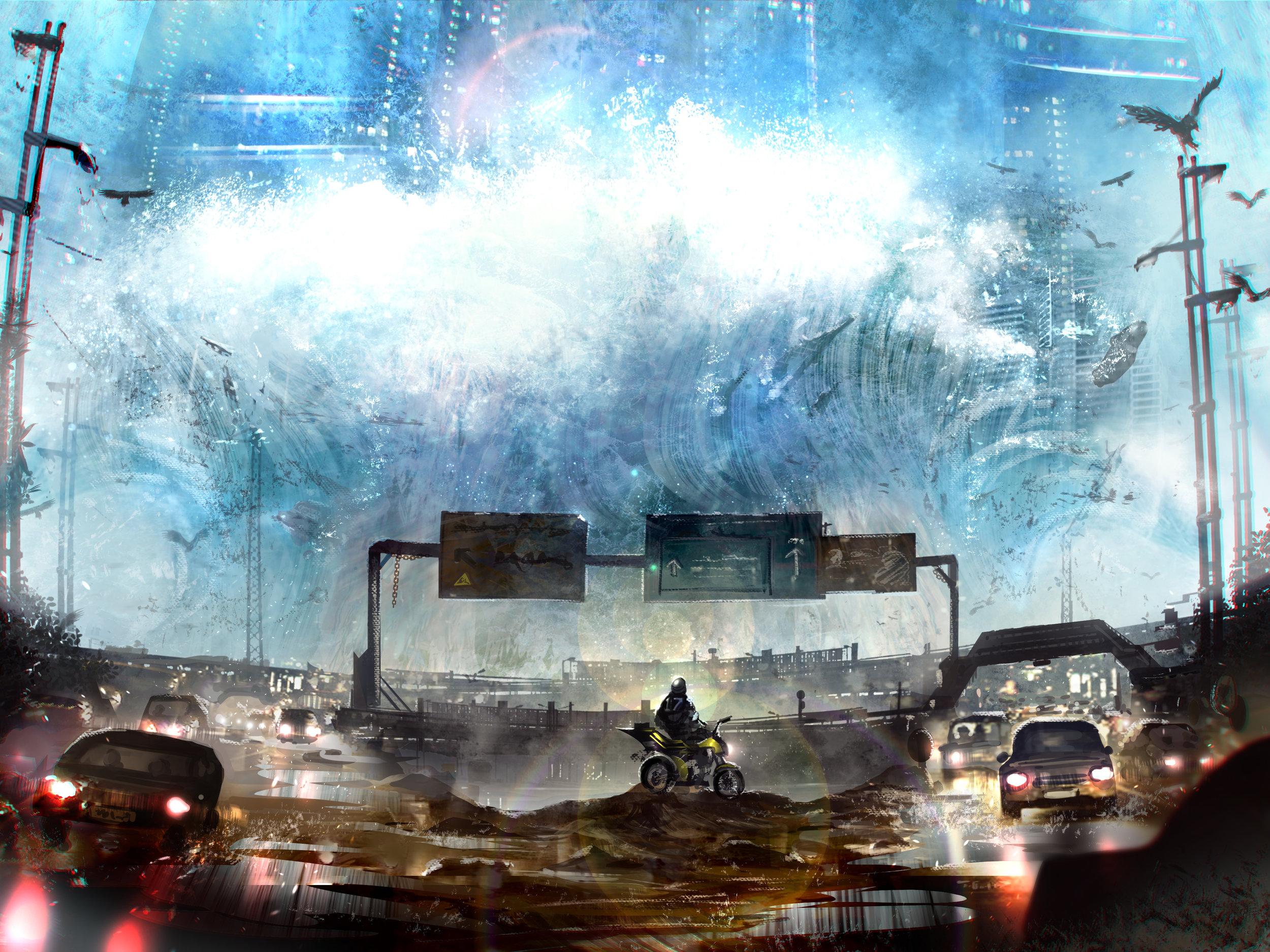Tsunamiiiii by  Russell Goh.  https://ultragriffy.deviantart.com/