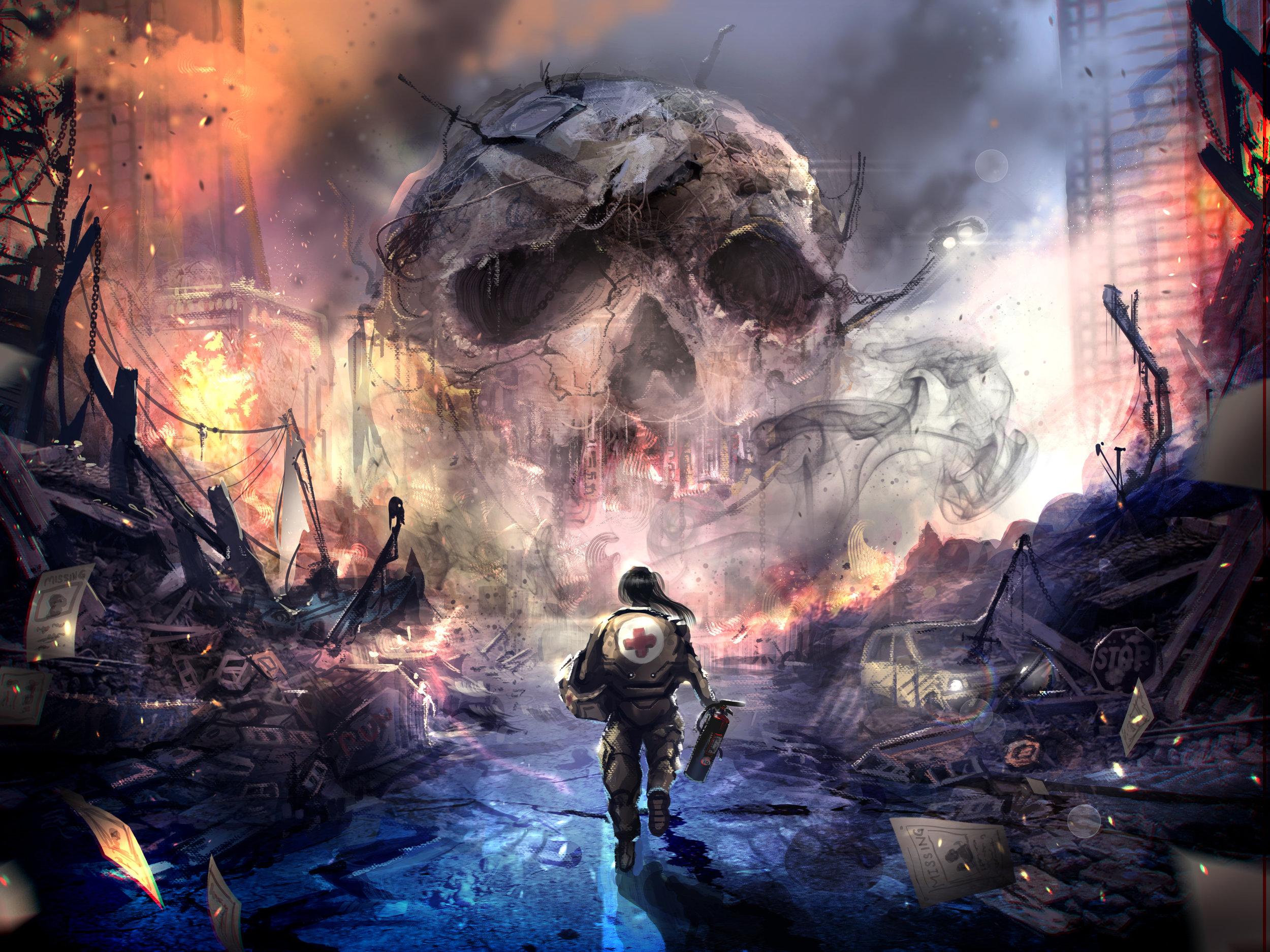 Urban Disaster by  Russell Goh.  https://ultragriffy.deviantart.com/