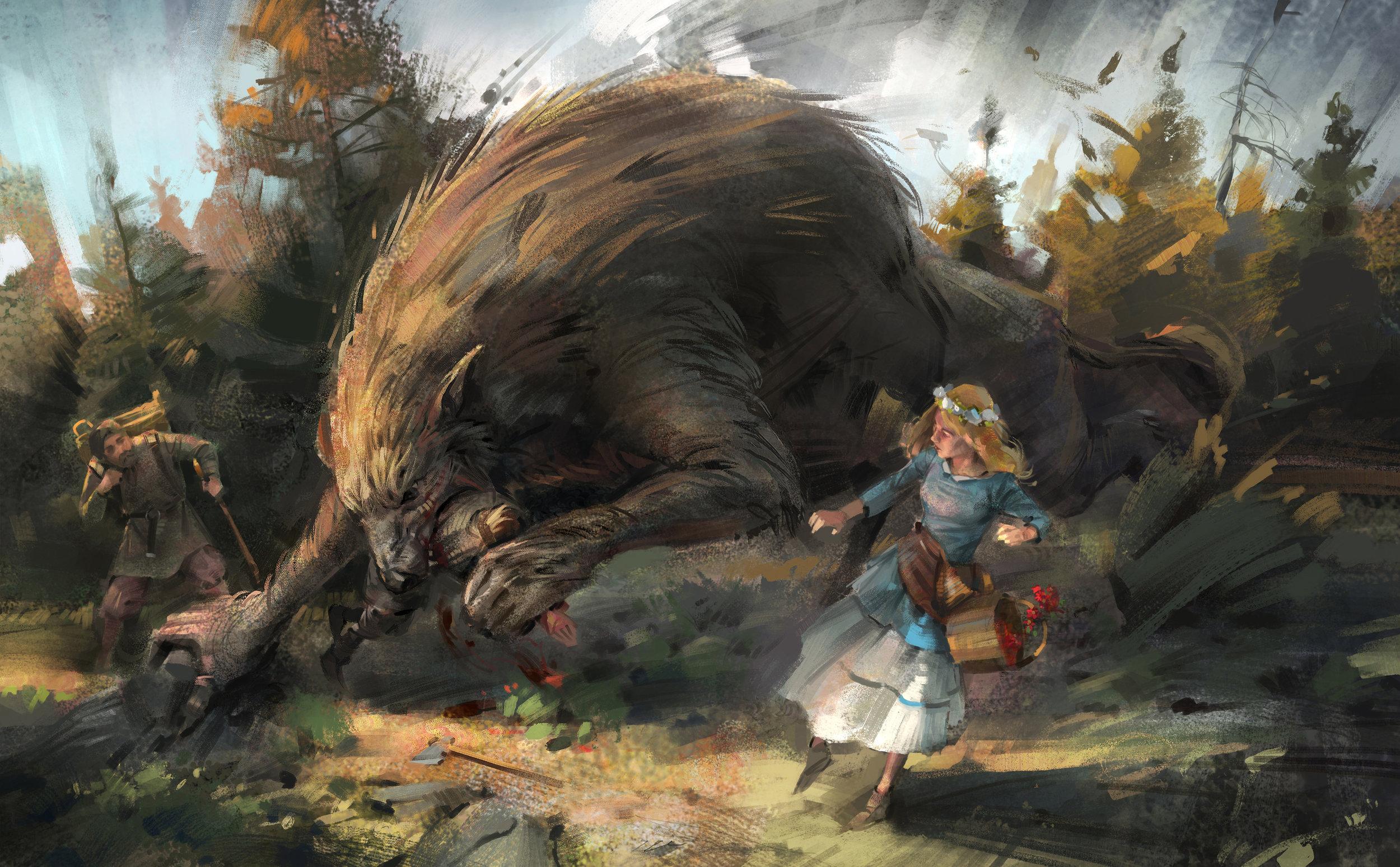 When the Werewolves Have Their Way by  Filip Storch.  https://skvor.deviantart.com/