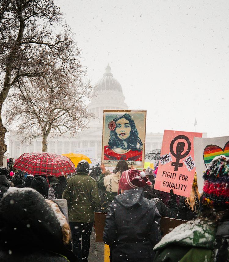 Protest at state capital in Salt Lake City, Utah.