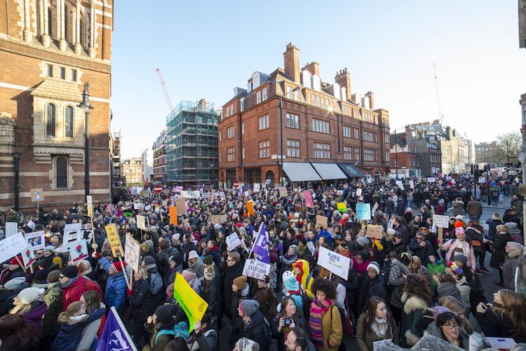 Women's March in London on January 21, 2017.