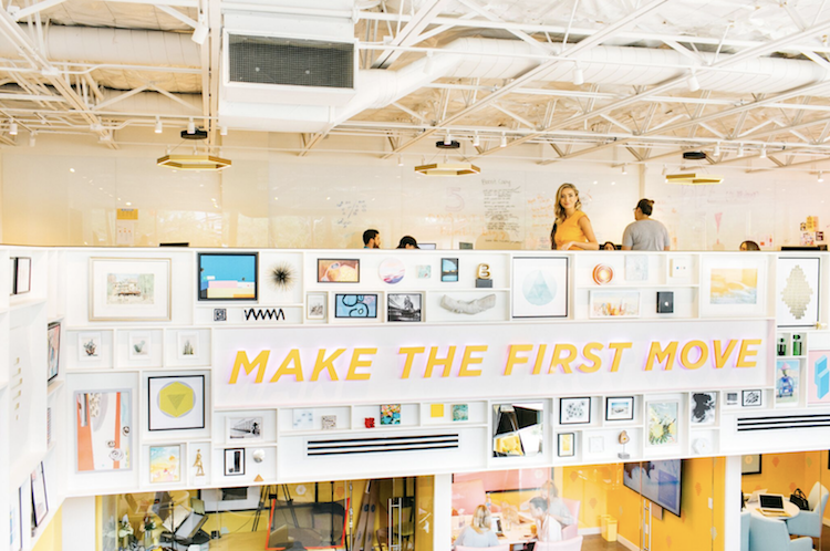 Bumble founder and CEO Whitney Wolfe Herd at the company's Austin, Tex. HQ