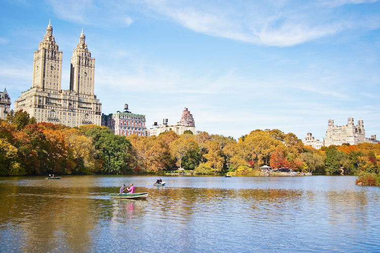 A Central Park rowboat ride: romantic potential.