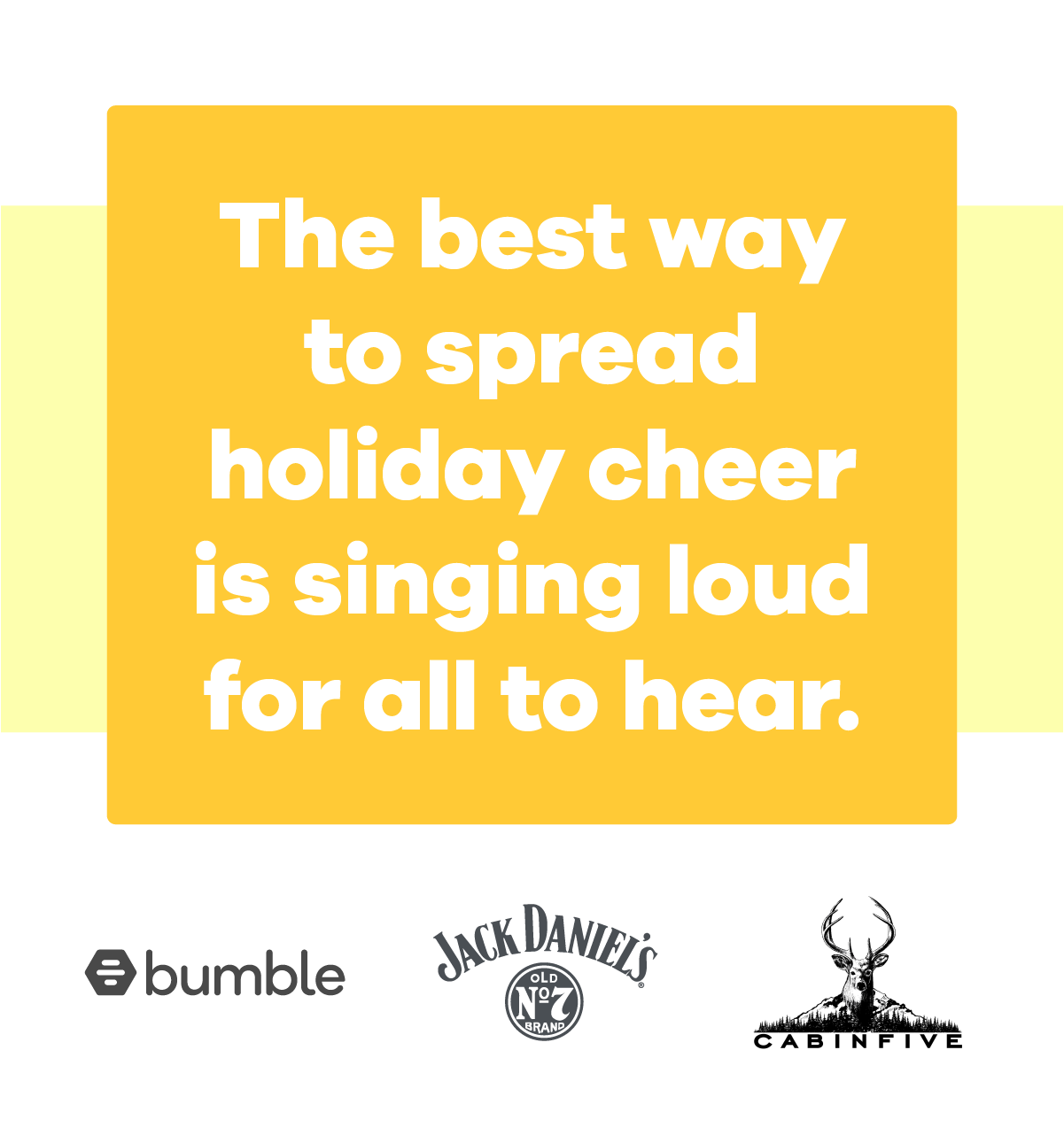 Celebrate the holidays with Bumble - Join us at Cabin Five in your favourite ugly sweater!