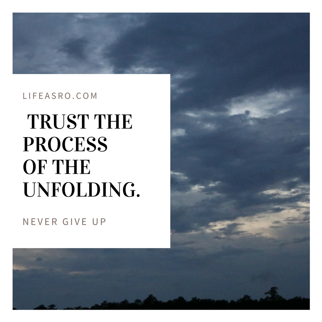 trust the process of the unfolding
