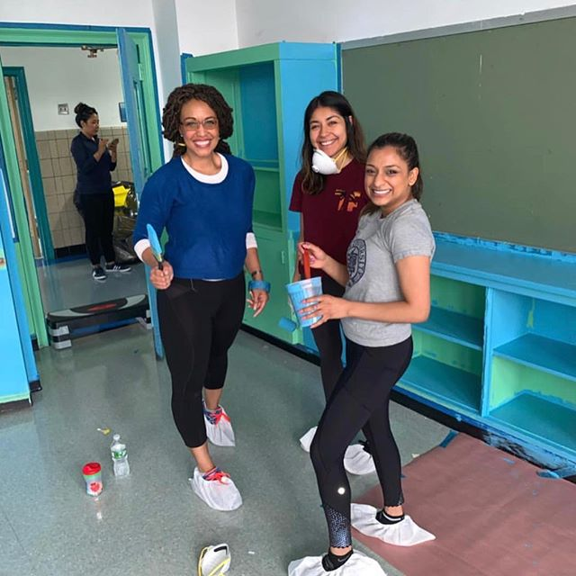 Thanks to the YPC @partnershipwithchildren who spent their Saturday getting BELA classrooms READY for next school year. Special shout out to the 2015 @villanovau grads ✌️ #service #ibelieveicaniwill #belacharter