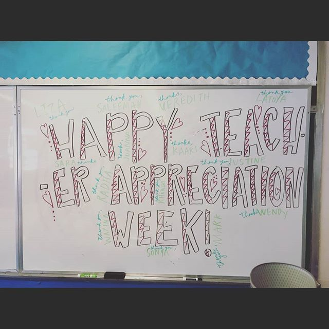 Happy Teacher Appreciation Week! We're kicking off this week of gratitude with a lovely breakfast and some shout outs! Who are you celebrating this #TeacherAppreciationWeek ? Shout them out in our comments below! 👩🏾🏫🍎📏