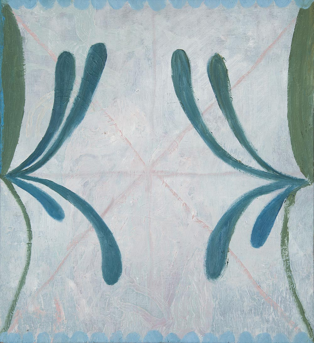 Mutes ii  oil on panel  2017  32 x 29cm