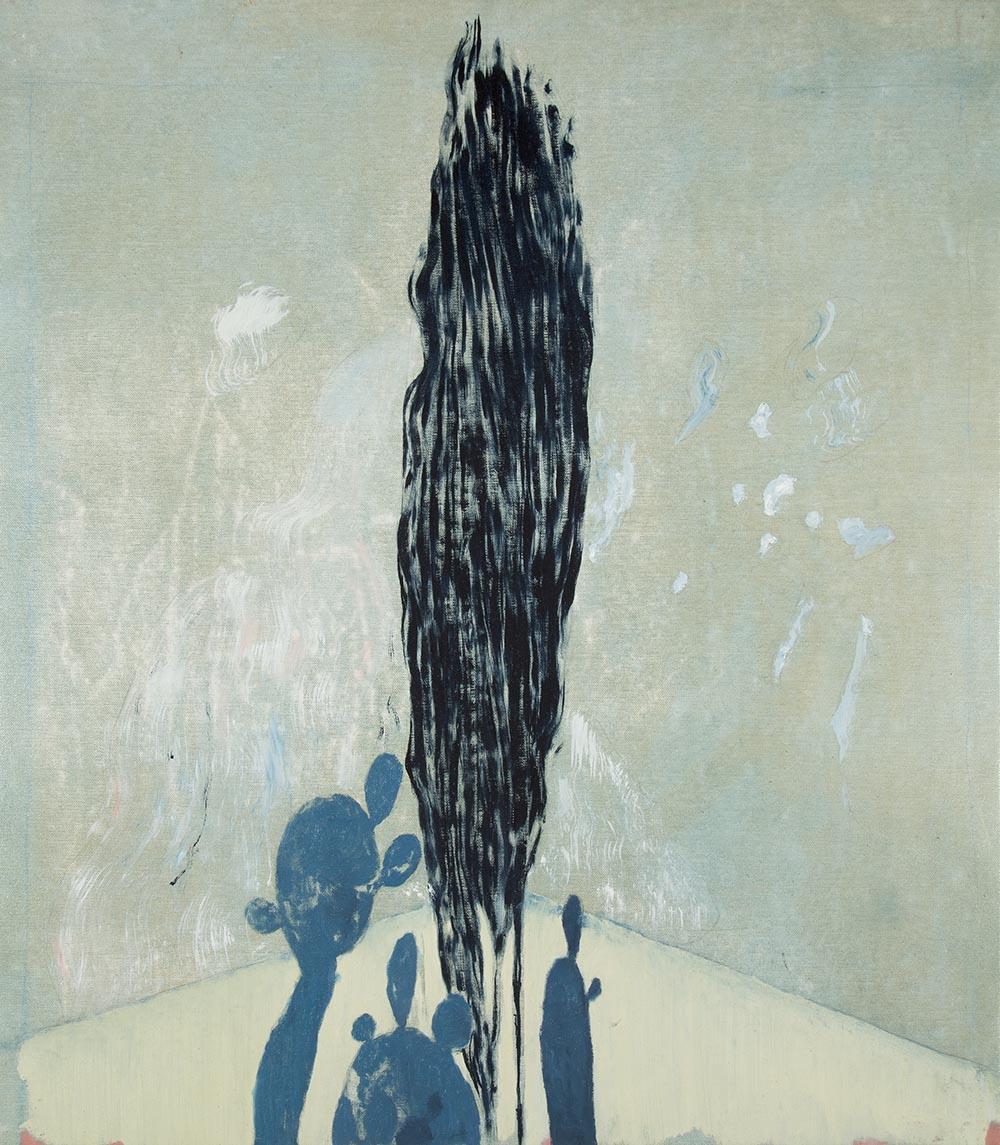 Cyprus Tree  oil on linen  2017  68 x 60cm