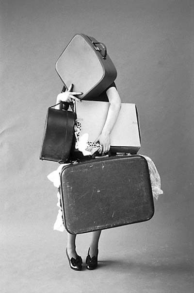 Suitcase busting open