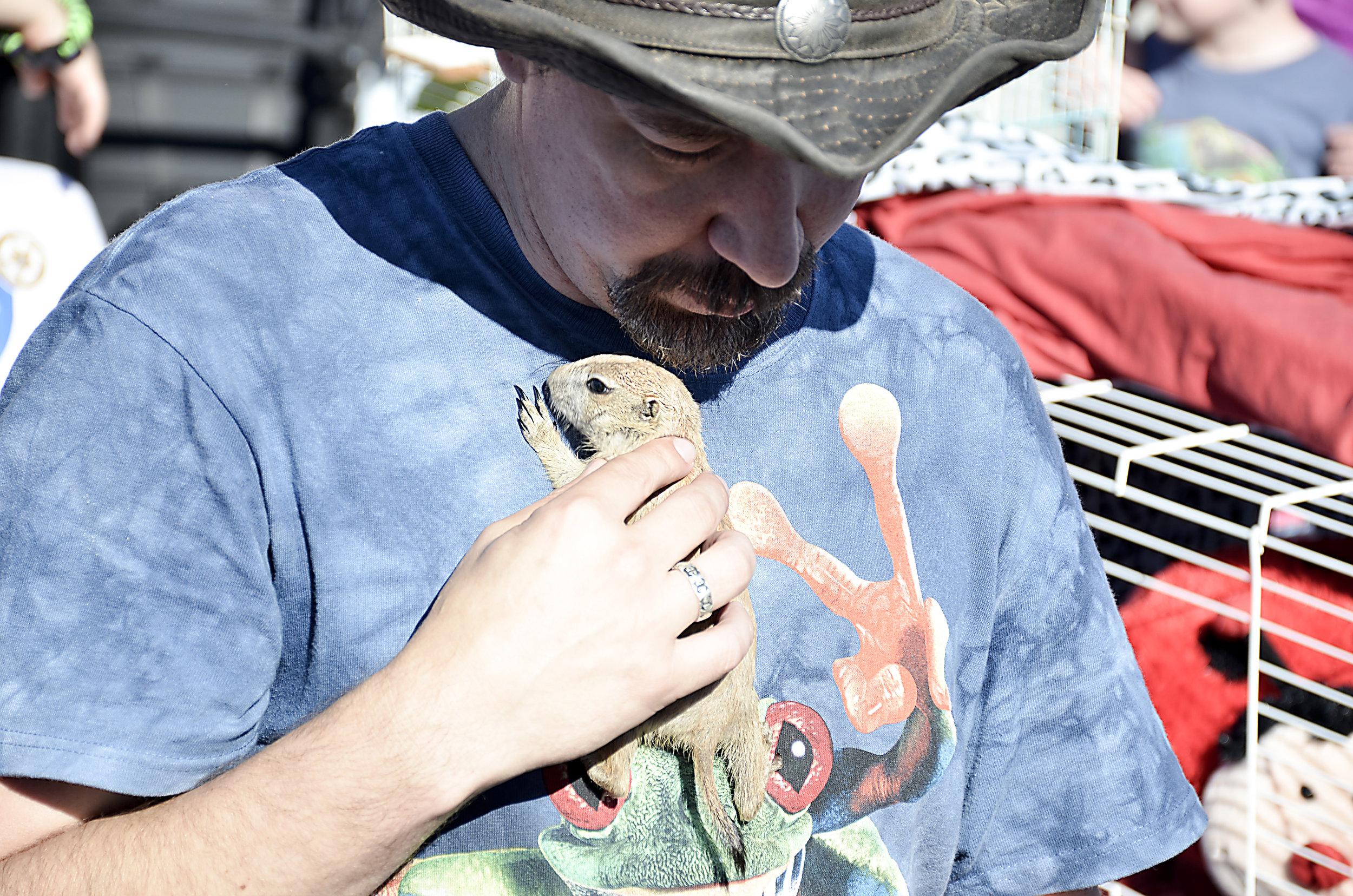 Wildlife-Geeks-Chuck-Alberding-with-ferret