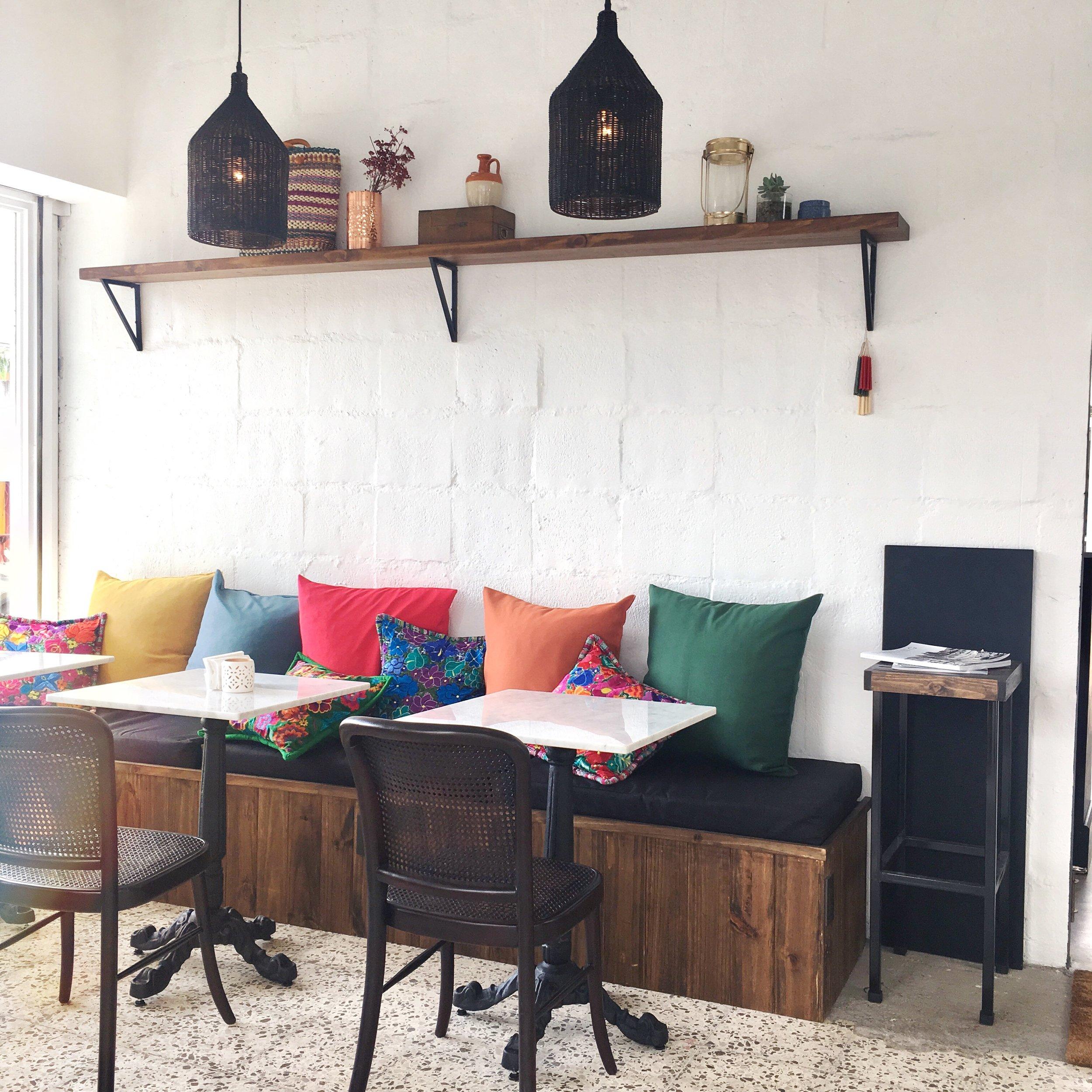 Cozy corners and great coffee.  Photo via Carla Cob @ carlacob