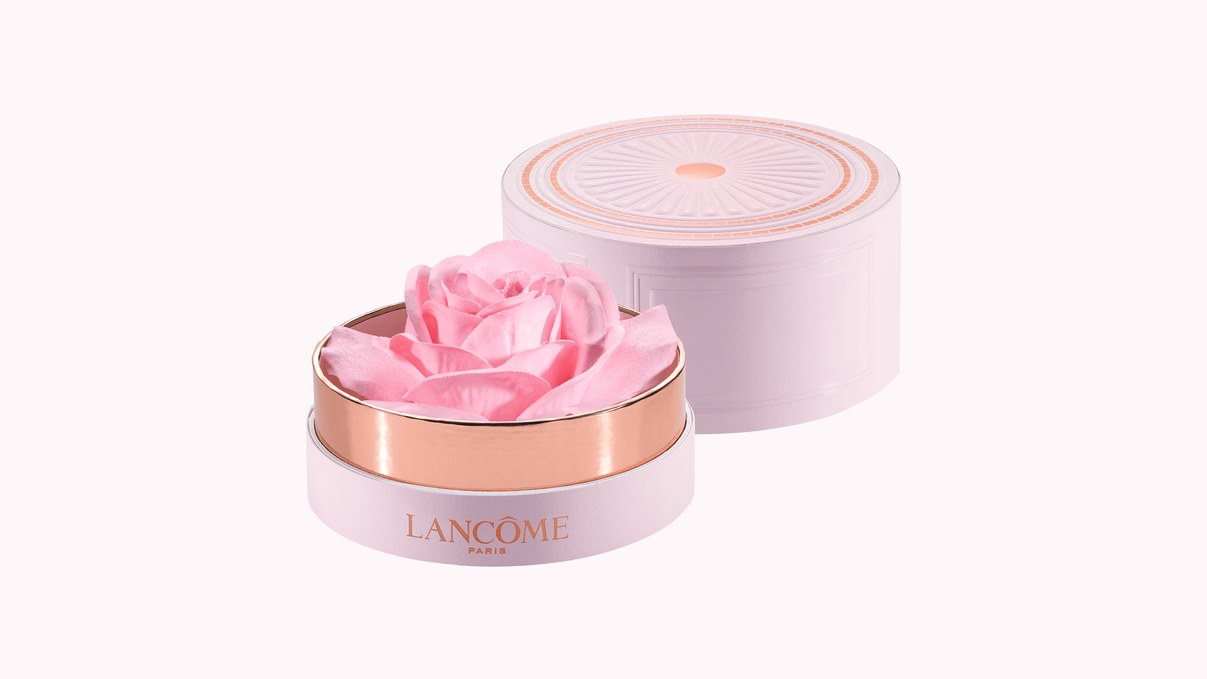 Talk about pretty.  Lâncome Rose Petal Highlighter $60 available later this month.