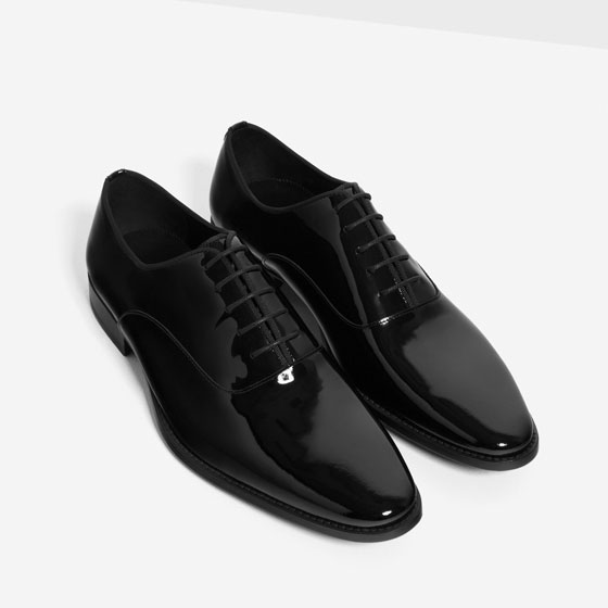 Zara Patent Oxfords