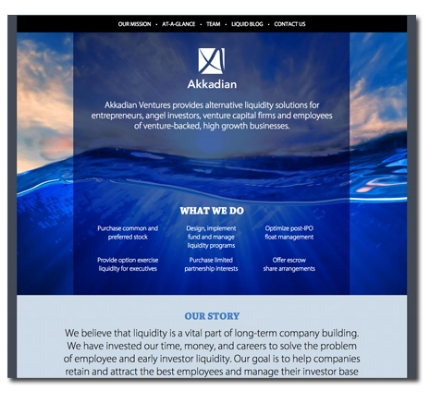 Website design: Akkadian Ventures