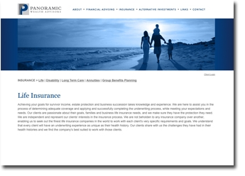 Website design: Panoramic Wealth Management