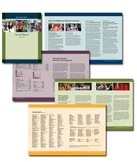 Annual Report for Mark Day School (formerly Saint Marks School) in San Rafael, CA.