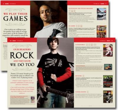 Brochure design for Future US Publishing company.