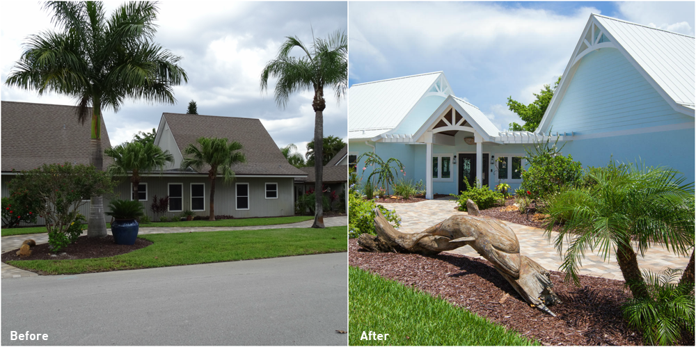 5245 Williams Drive Before and After Exterior Renovation