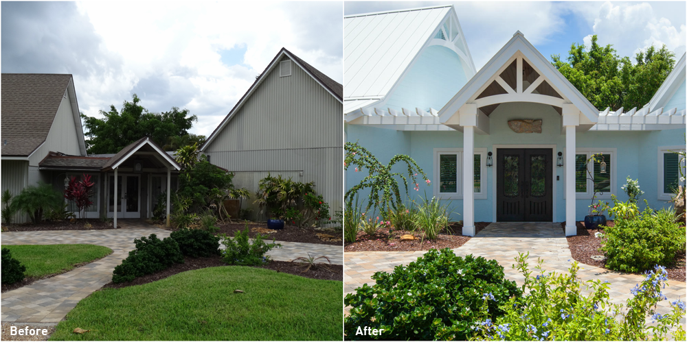5245 Williams Drive Before and After Entry Renovation