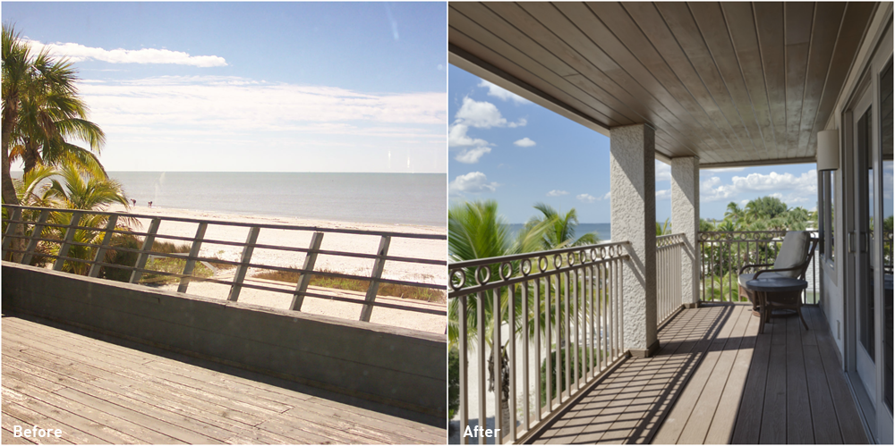 Estero Boulevard Before and After Deck Renovation