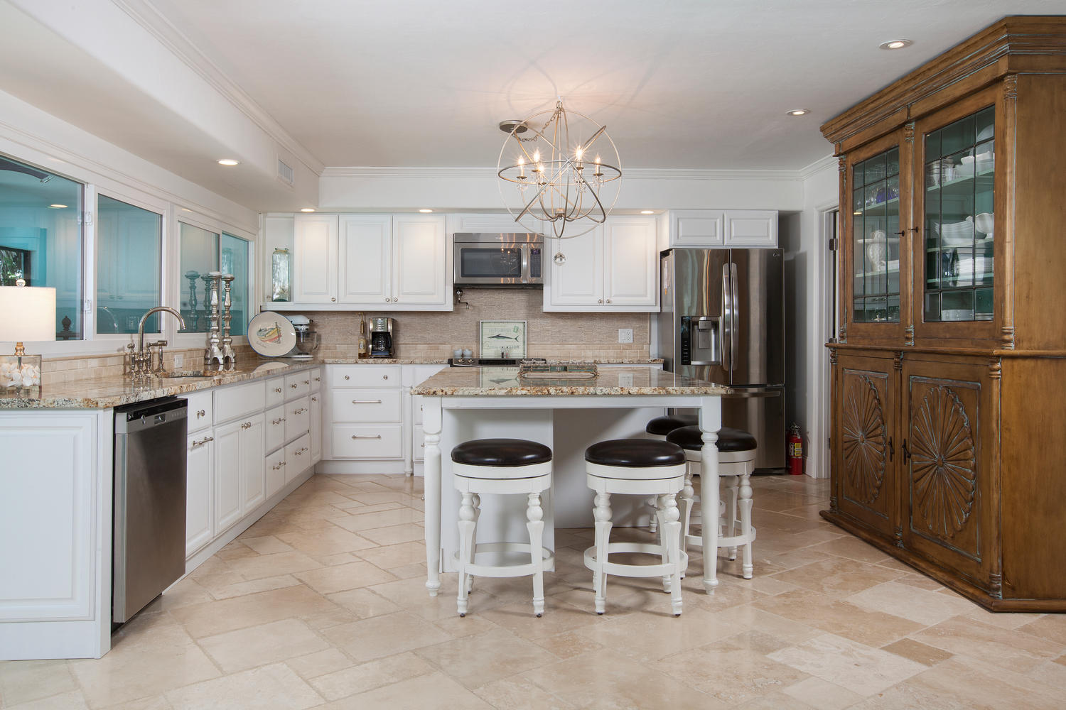 5245 Williams Drive Kitchen Before and After Renovation
