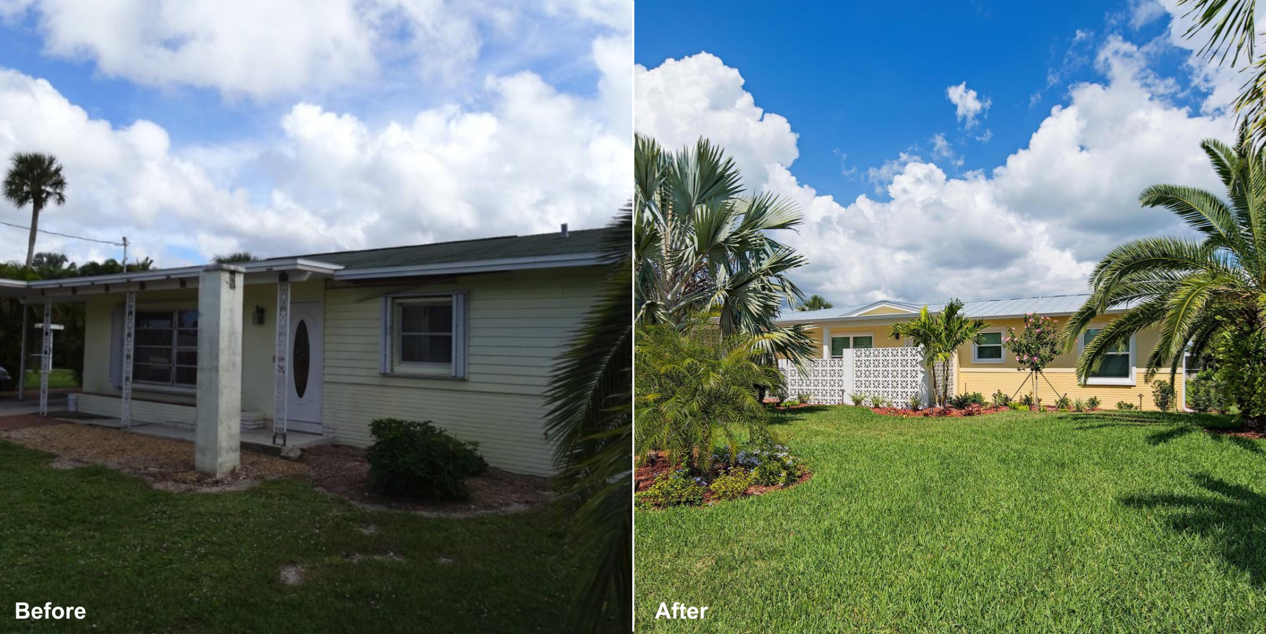 3 Clearview Front of House Before and After.png