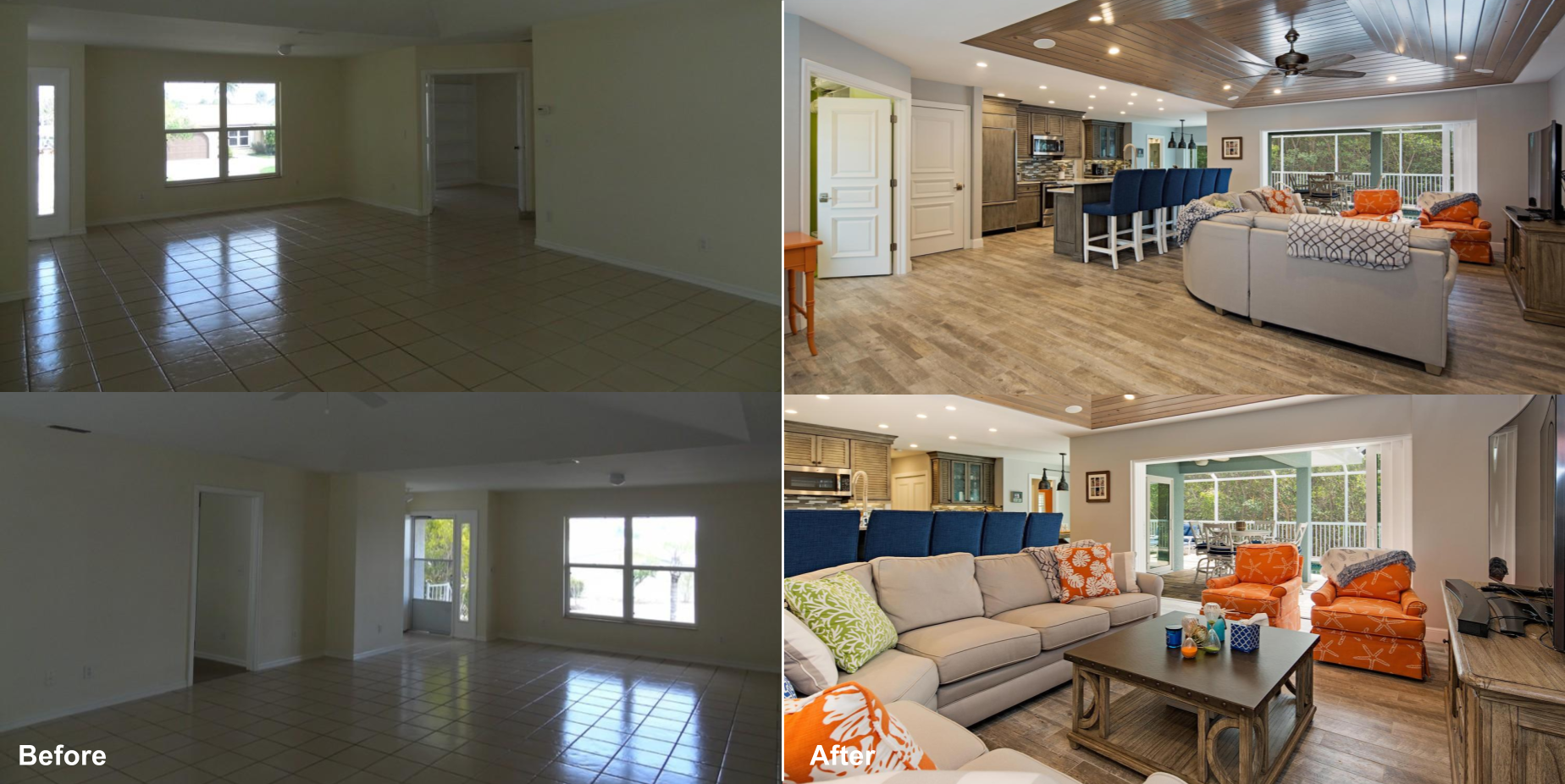 16 Fairview Great Room %2F Kitchen Before and After.png