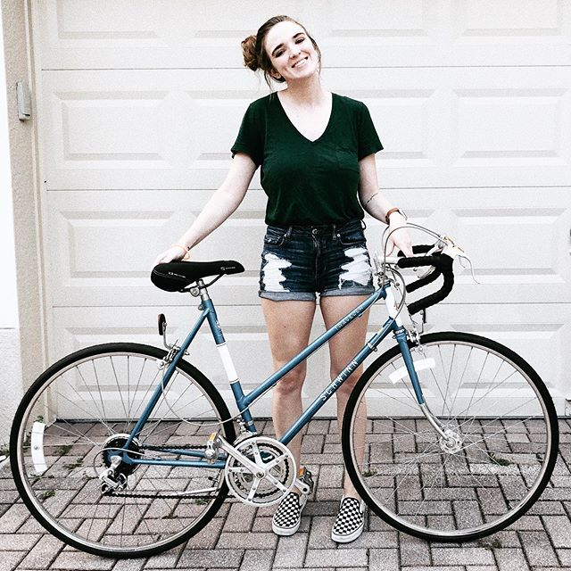 my dad bought this bike in 1982. it's a bit rusty and a little too big for me, but i really wouldn't trade it for anything.